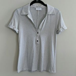 Frame Shirt Short Sleeve Striped Black White S